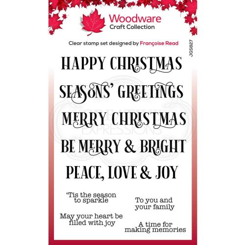 Christmas Sparkle Woodware Clear Stamp (FRS827)